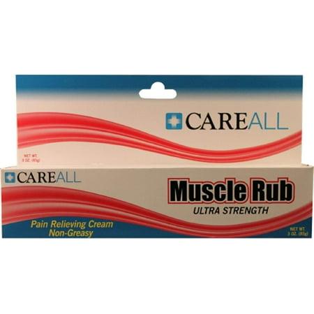 Muscle Rub, 3 oz., Ultra Strength (Methyl Salicylate 15 Menthol 1 Topical Cream)