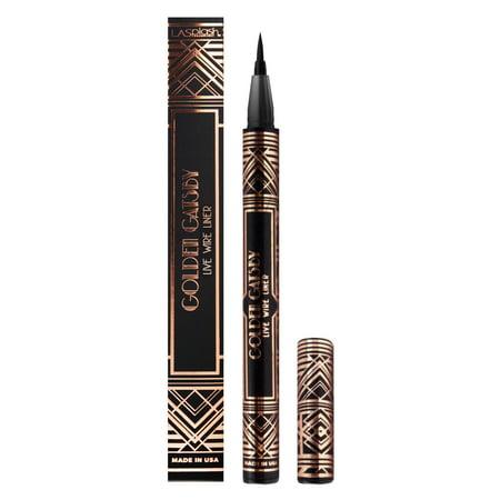 LA Splash Golden Gatsby Collection EL Glam Slim Eyeliner Pen Black (brush tip) - Live