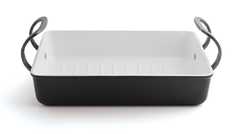 Berghoff Eclipse Black & White Roasting Pan, Black White by Berghoff
