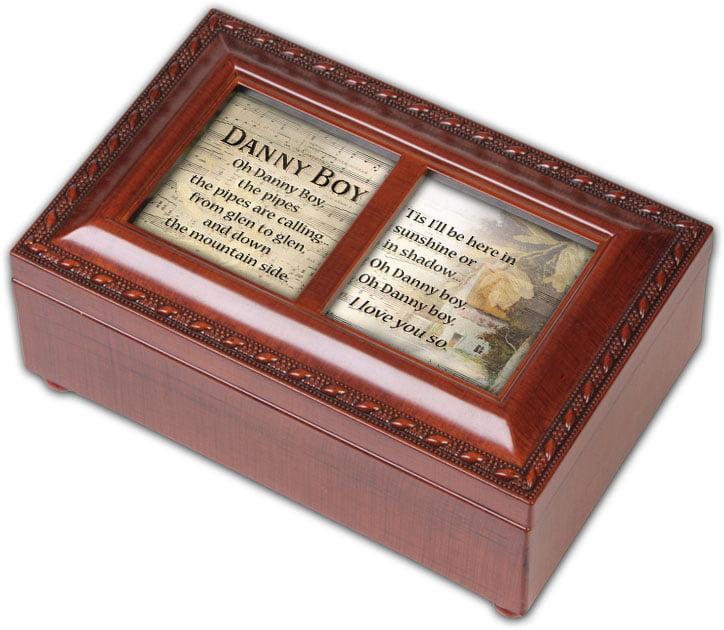 Cottage Garden Danny Boy Woodgrain Petite Music Box   Jewelry Box Plays Irish... by