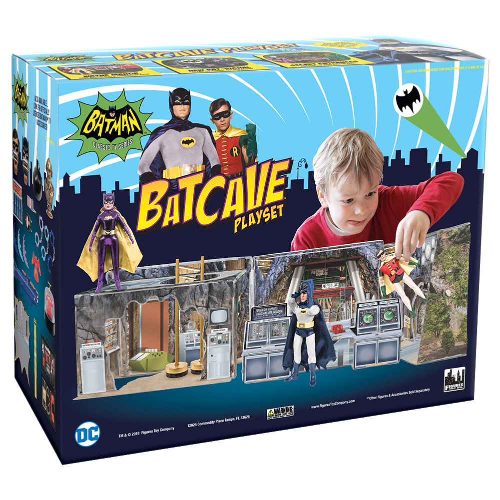 Batman Classic TV Series Batcave Retro Playset by