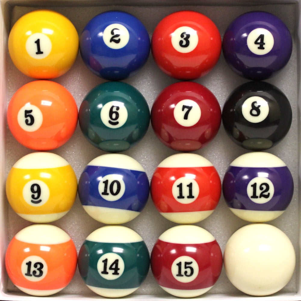 Exceptionnel Brybelly Pool Table Billiard Ball Set   Walmart.com