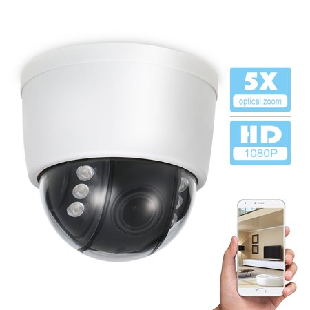 HD 1080P Wireless WIFI Dome PTZ IP Camera 2.8-12mm Auto-focus Support P2P Phone APP with TF Card Slot CCTV (Best Autofocus Camera App)