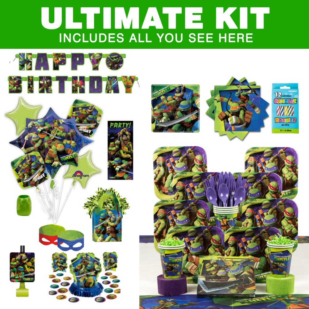 TMNT Birthday Party Ultimate Tableware Kit Party Supplies