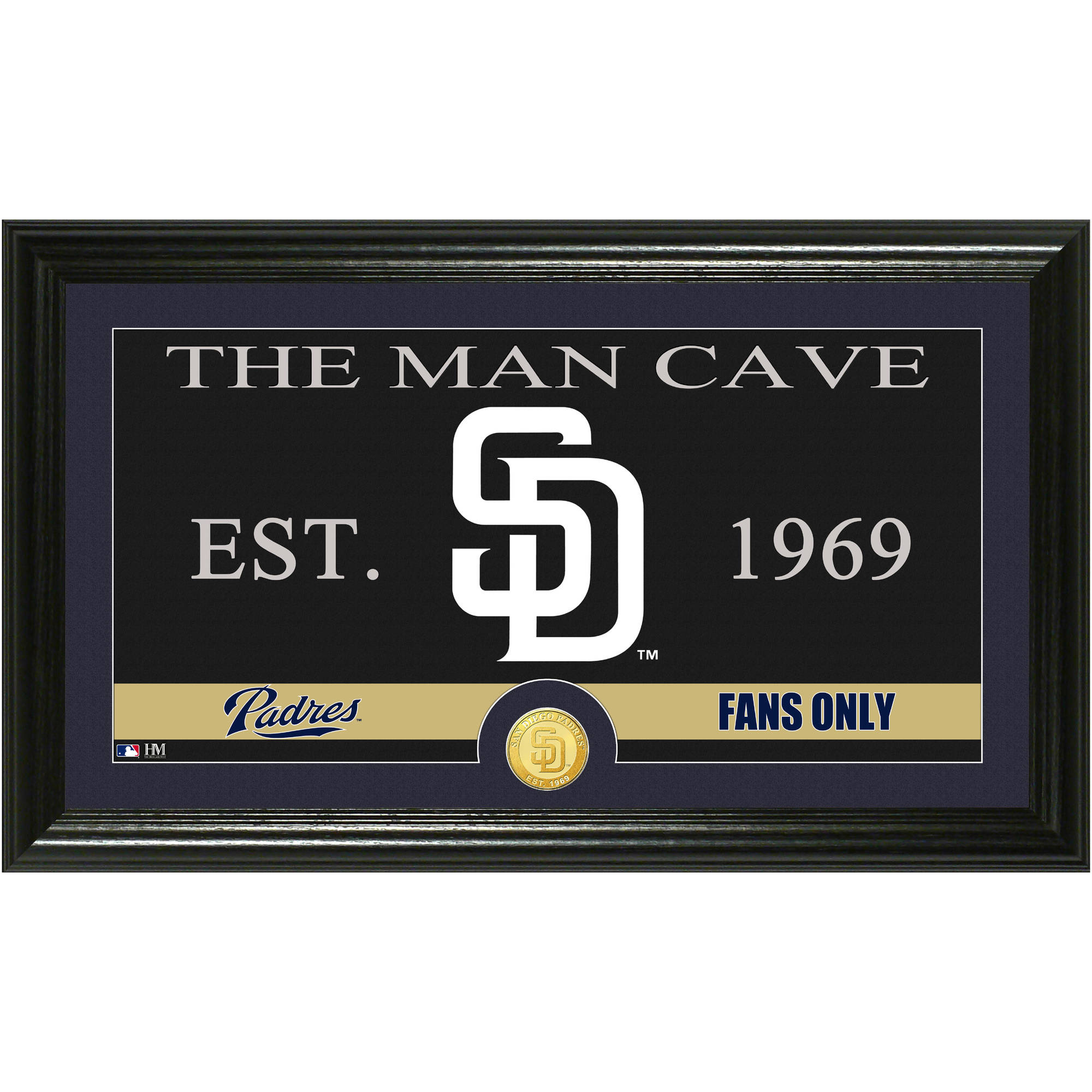 The Highland Mint MLB Man Cave Bronze Coin Panoramic Photo Mint, San Diego Padres