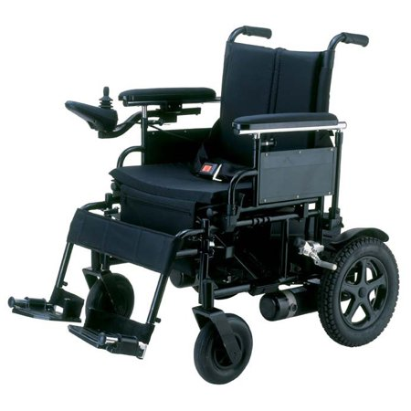 Drive Medical Cirrus Plus Folding Power Wheelchair with Footrest and Batteries