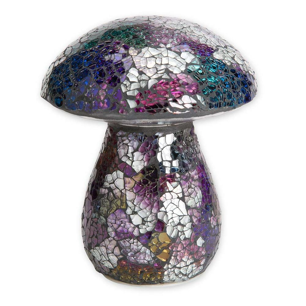 Glass Mosaic Mushroom Lawn Ornament Purple - Walmart.com ...