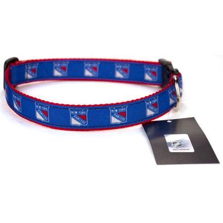 New York Rangers Ribbon Dog Collar
