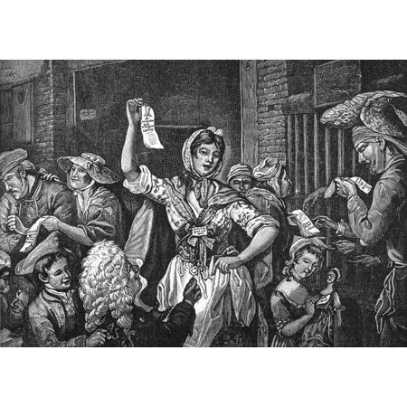 Wilkes And Liberty Riots NThe City Chanters A Scene From The Wilkes And Liberty Riots 1768 After An Engraving 1775 By S Okey Of A Picture By John Collett Poster Print by Granger Collection (Pictures Of S)