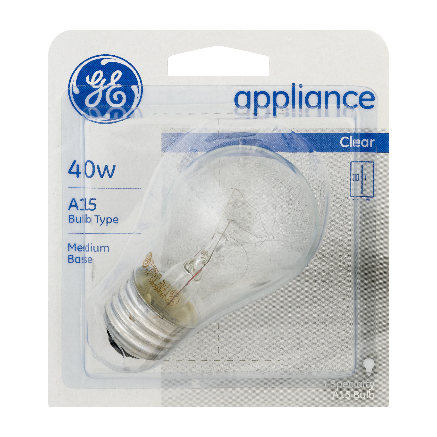 GE Appliance Lightbulb Clear 40W, 1.0 CT