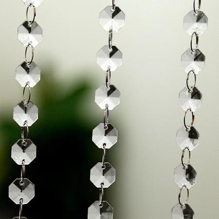 BAGGUCOR DIY Wedding Decor Diamond Acrylic Crystal Beads Curtain Strand Garland (Crystal Three Strand)