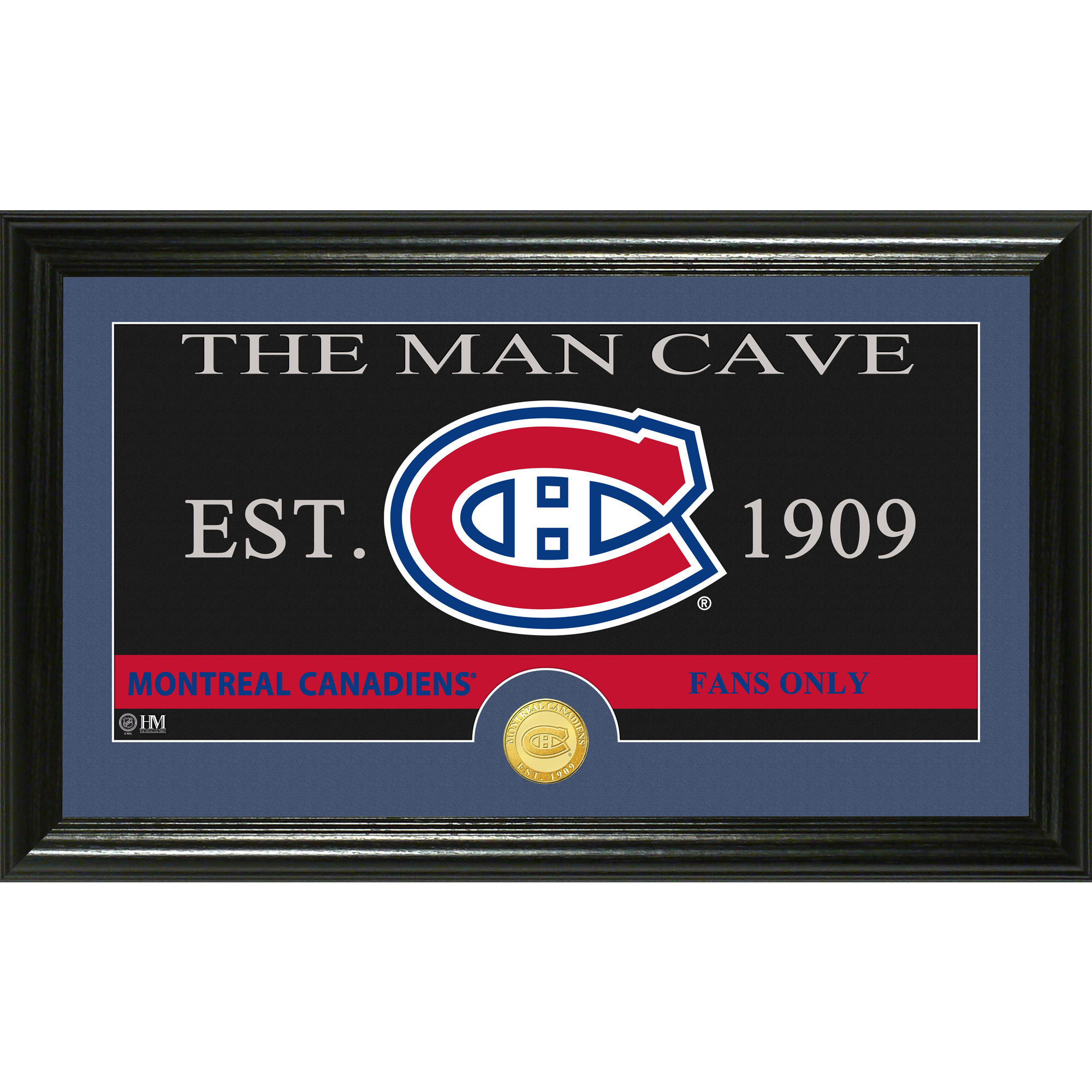 "Montreal Canadiens Highland Mint 12"" x 20"" Man Cave Panoramic Photomint - No Size"
