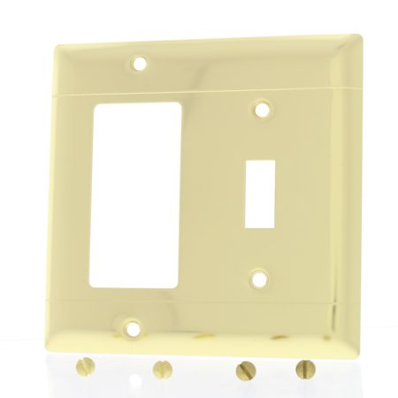 P&S 2Gang Toggle Switch Commercial GFCI Polished Brass Wallplate Cover SB126-PBD ()
