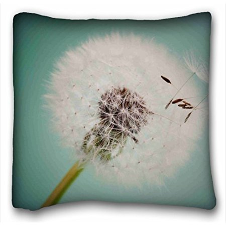 School Dora (WinHome Beautiful Dandelion Pillow Covers Throw Pillow Case With Zip Dorm Room Decor Girls Back To School Gifts Sofa Size 18x18 Inches Two Side )