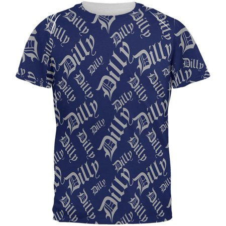 Dilly Dilly Old English Pattern All Over Mens T Shirt
