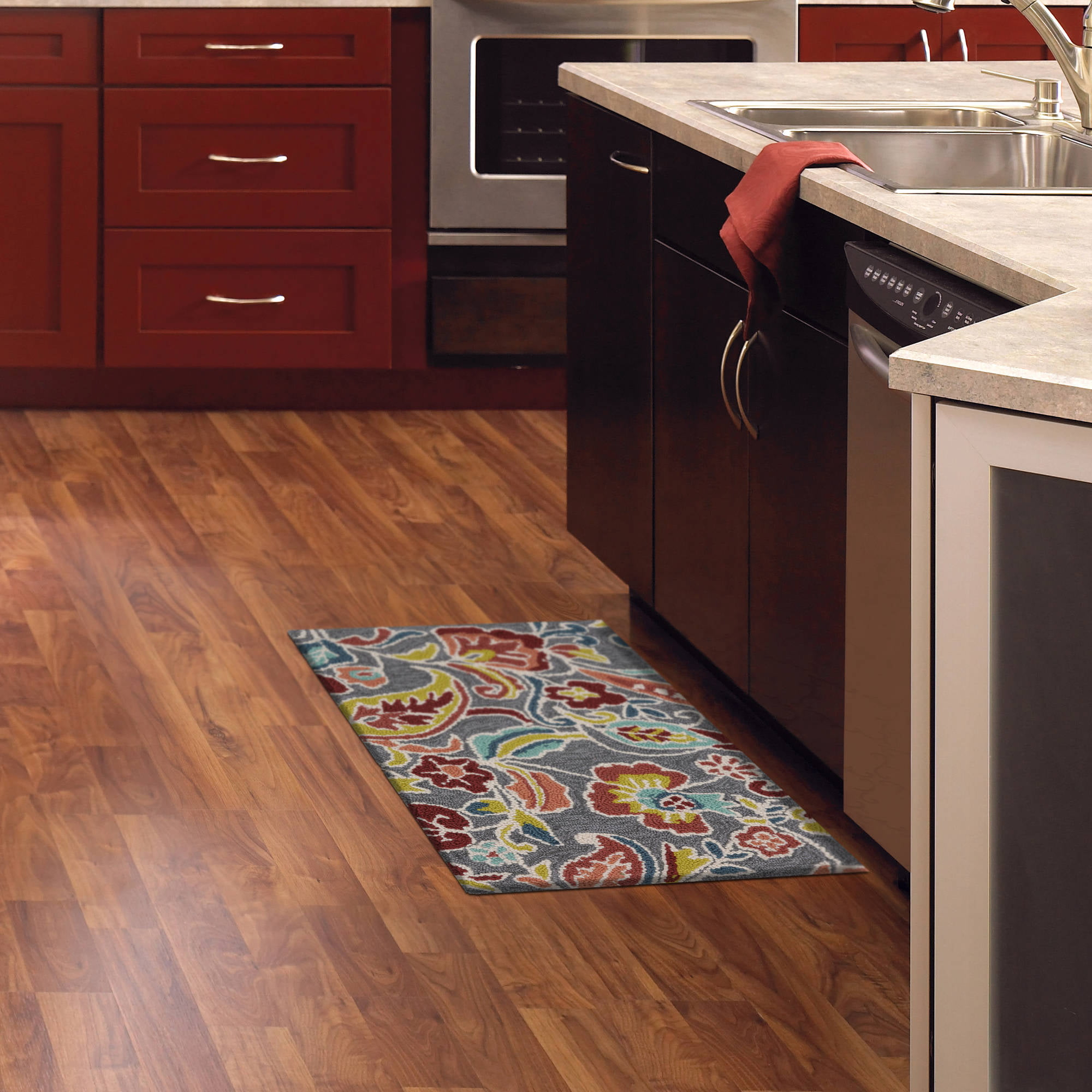 Multicolor Kitchen Rugs Walmart