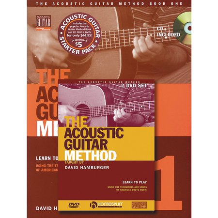 Homespun Acoustic Guitar Method with CD and 2-DVD Set Method Book Cd Set