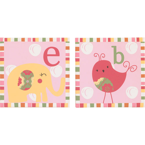 CoCaLo CoCo & Company Alphabet Sweeties Wall Art, Set of 2