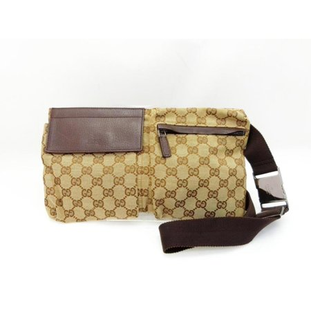 Gucci Brown Monogram GG Belt Bag Fanny Pack Waist Pouch Bum Bag 235975