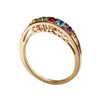 "Family Jewelry Personalized Mother's 10kt ""I Love You"" Family Birthstone Ring"