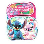 "Medium Backpack - Disney - Lilo and Stitch Pink 14"" New 106515"