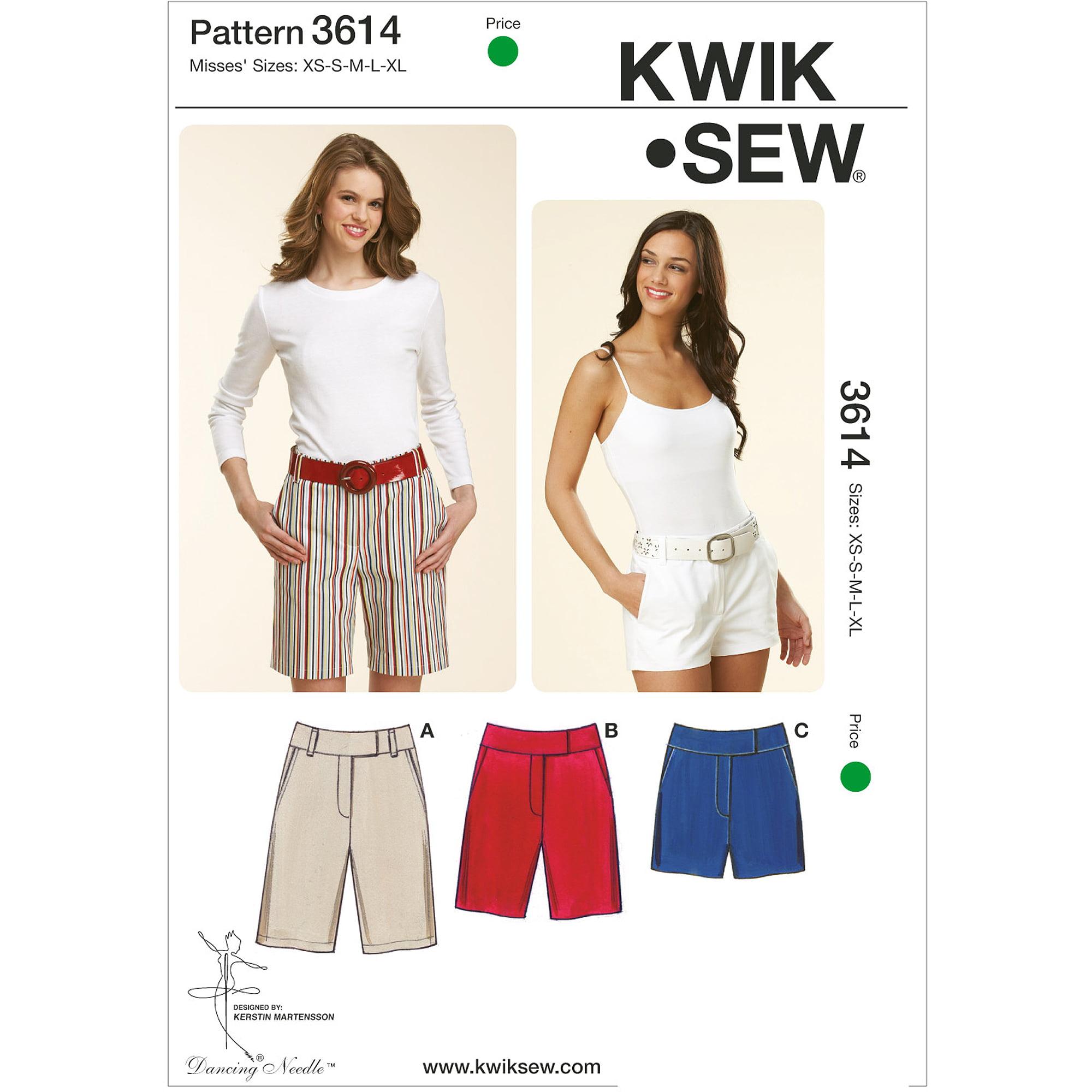 Kwik Sew Fitted Shorts, (XS, S, M, L, XL)