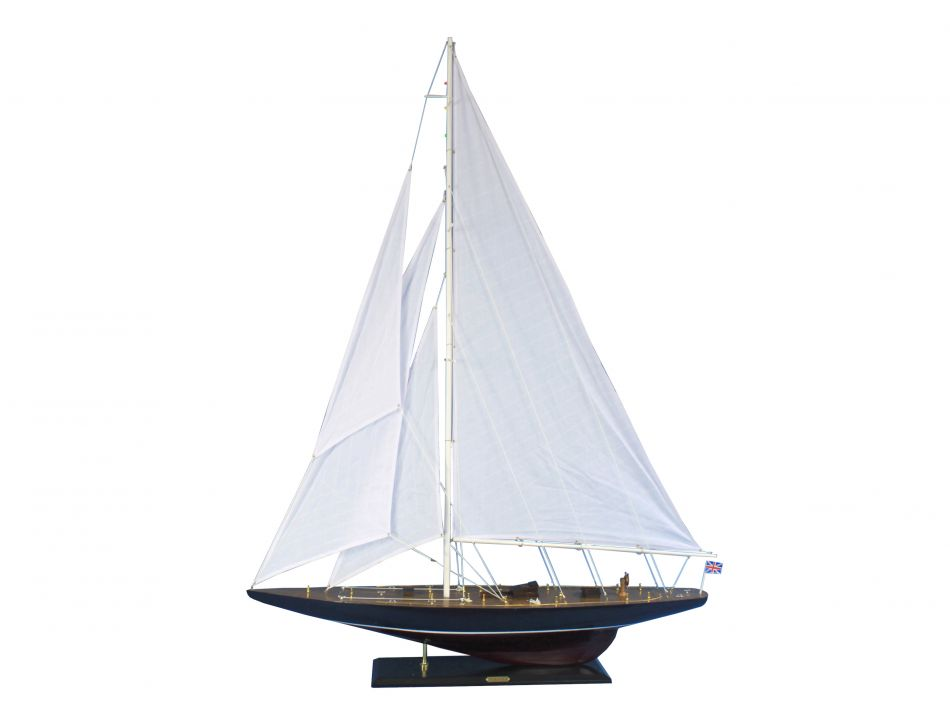 "Endeavour 60"" Large Model Sailboat Wooden Sailboat Model Boat Model Nautical Decoration Beach Theme by Handcrafted Nautical Decor"