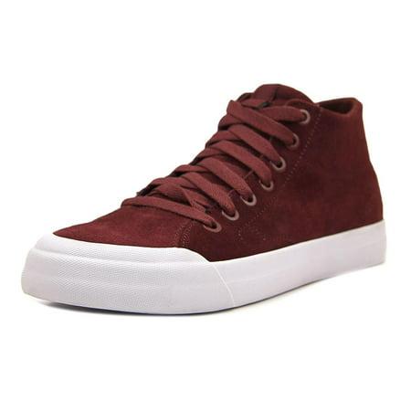 Dc Men's Evan Smith Hi Zero Maroon Ankle-High Leather Skateboarding Shoe - 8.5M - Maroon Softball Shoes