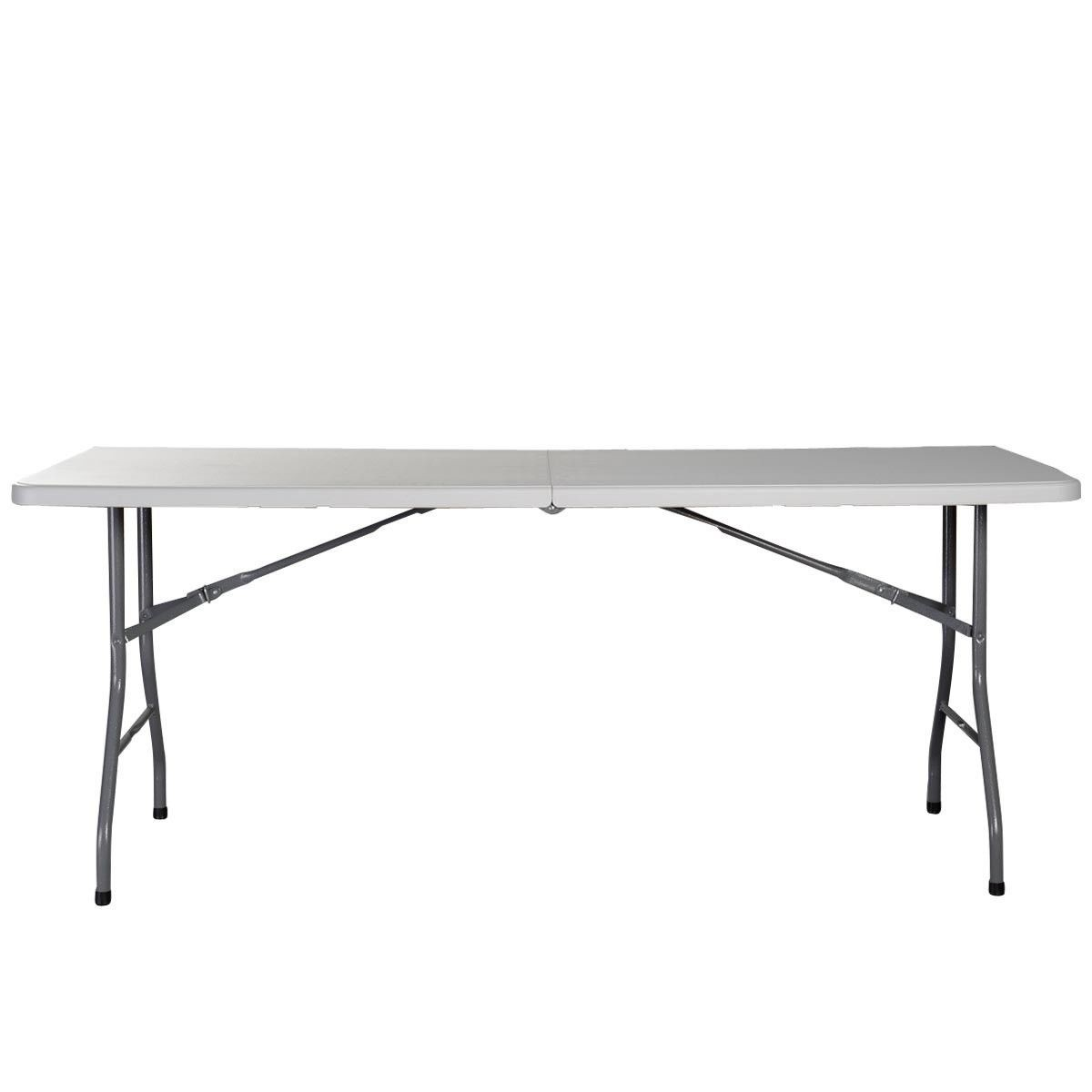 4' Folding Table Dining Camp Table Picnic Party Buffet BBQ Camping Easy Clean by Apontus