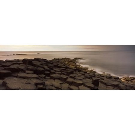 Reef At The Giants Causeway County Antrim Northern Ireland Poster Print