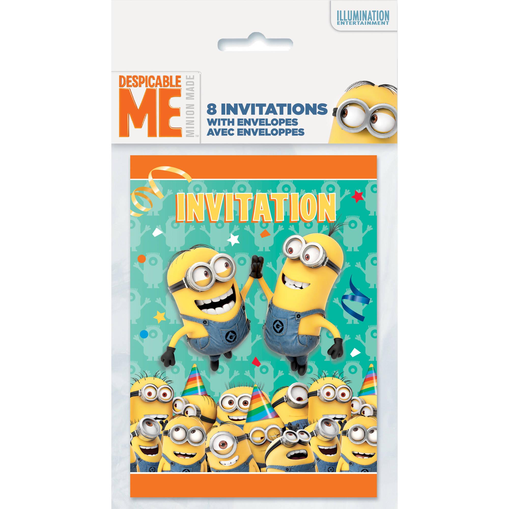Despicable Me Minions Invitations, 8ct