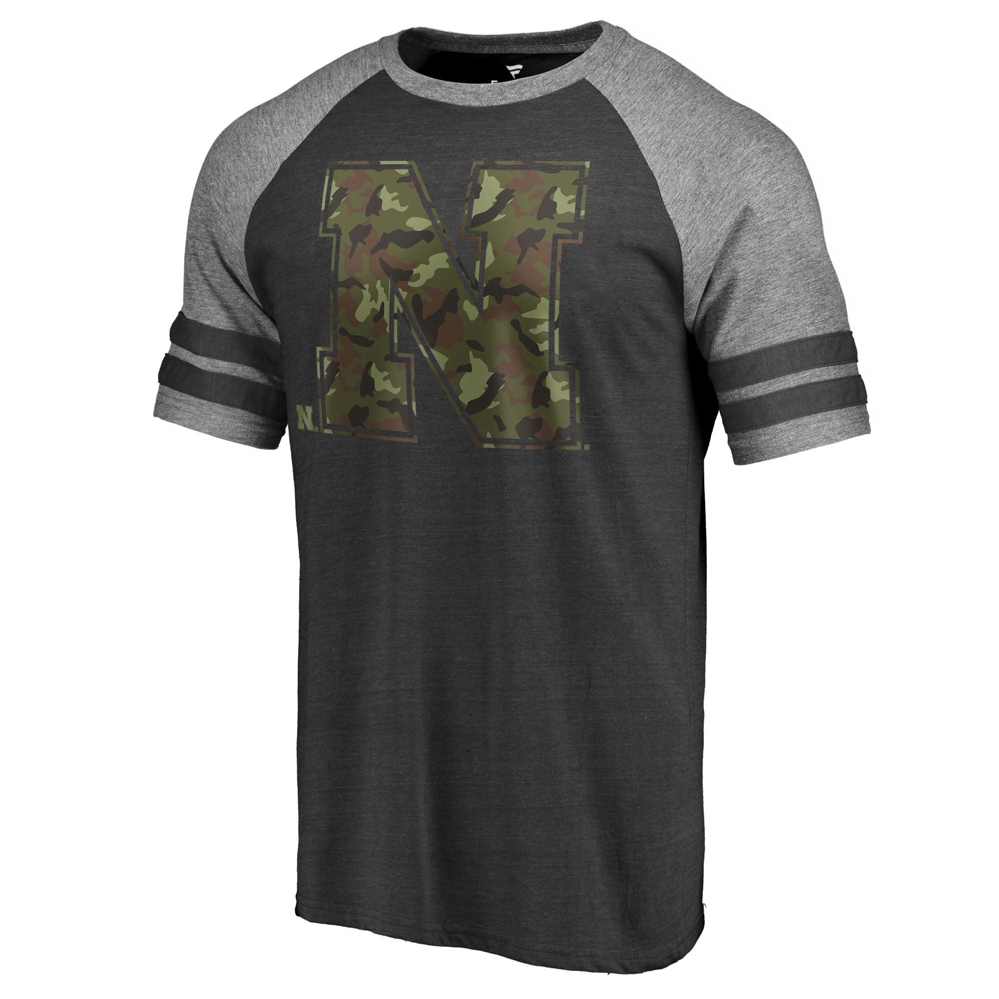 8e73d269a Nebraska Cornhuskers Fanatics Branded Prestige Stripe Raglan T-Shirt - Black  - Walmart.com
