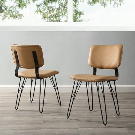 Superb Manor Park Mid Century Modern Flex Back Accent Dining Chair Set Of 2 Tan Short Links Chair Design For Home Short Linksinfo