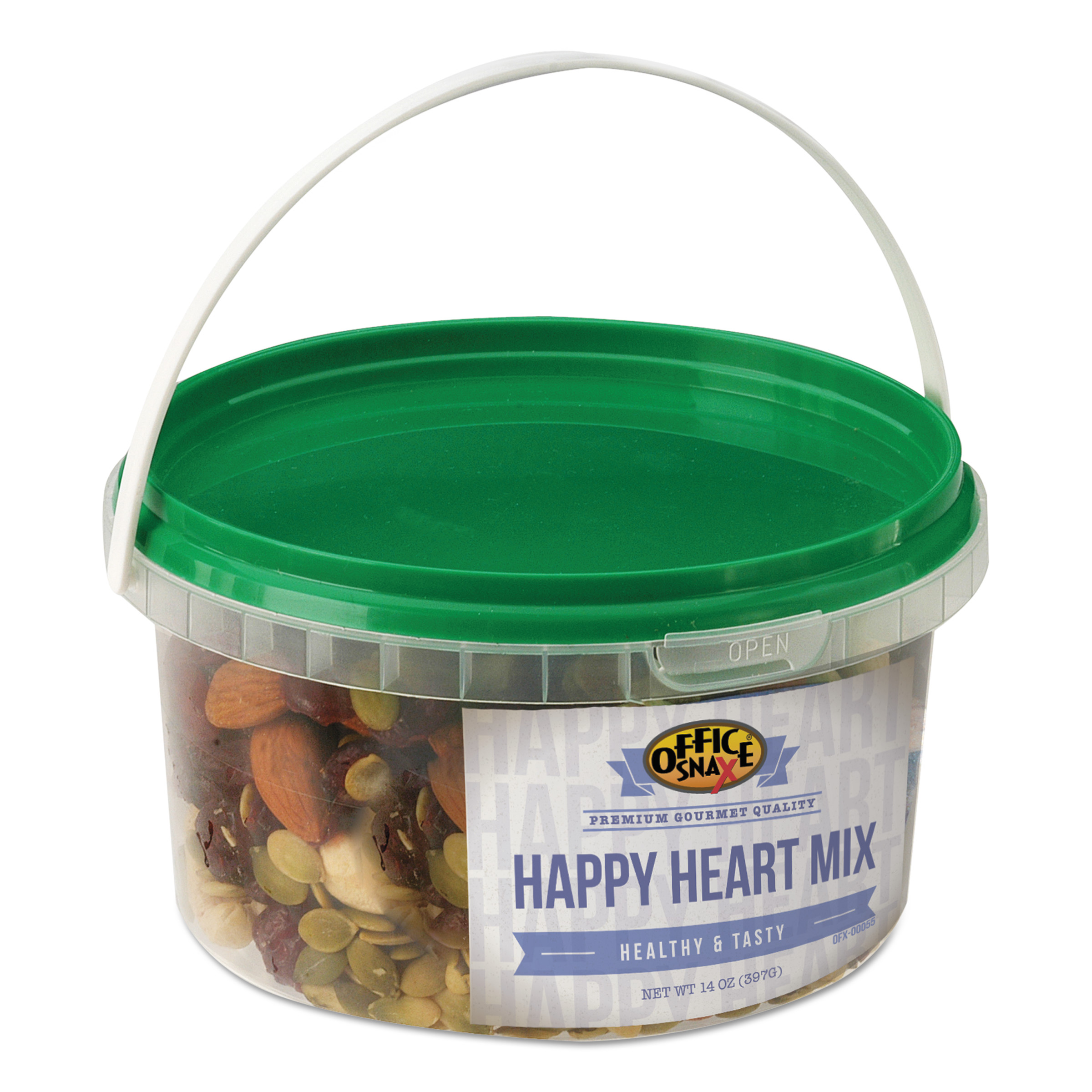 Office Snax All Tyme Favorite Nuts, Happy Heart Mix, 14 oz Tub