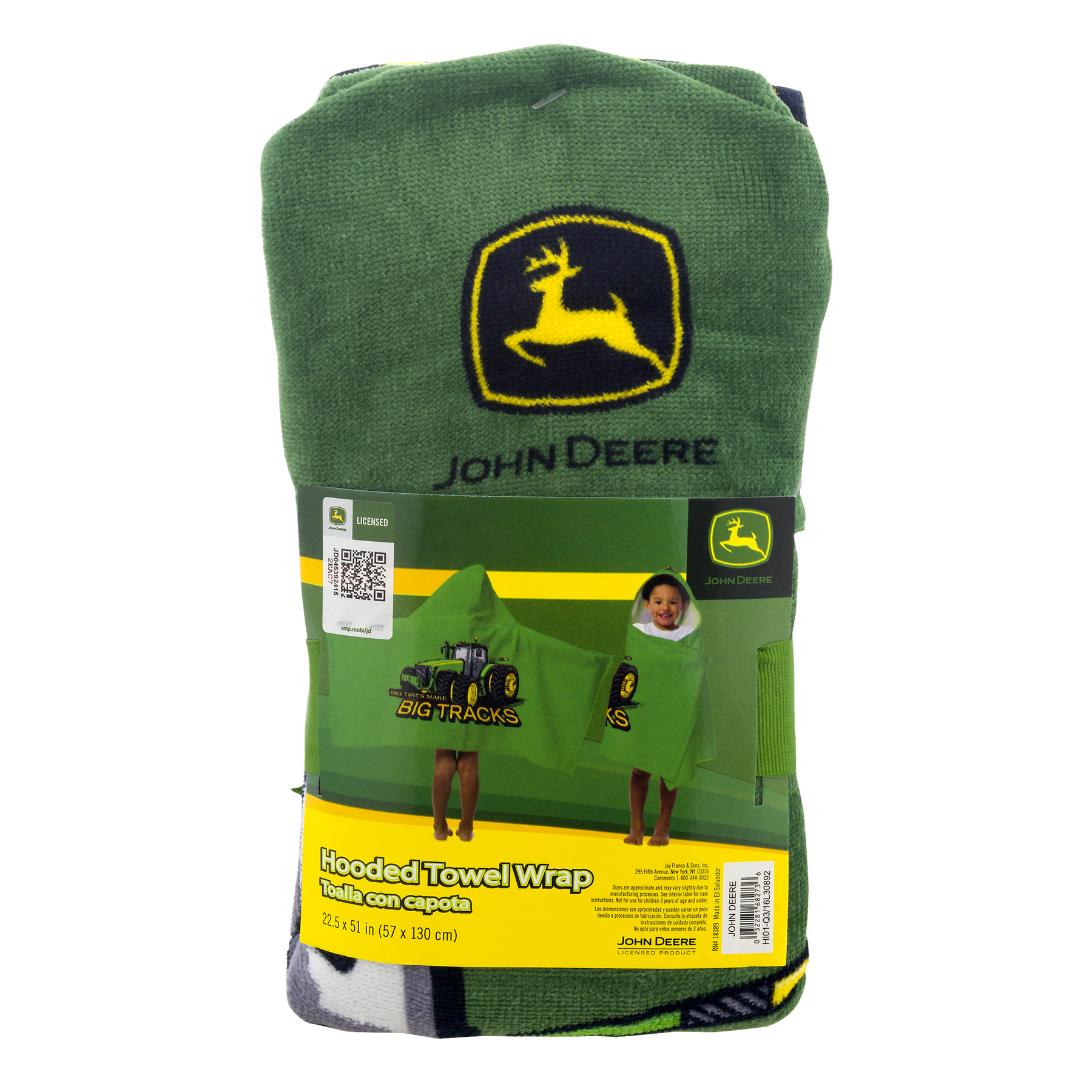 John Deere Hooded Towel Wrap, 1.0 CT