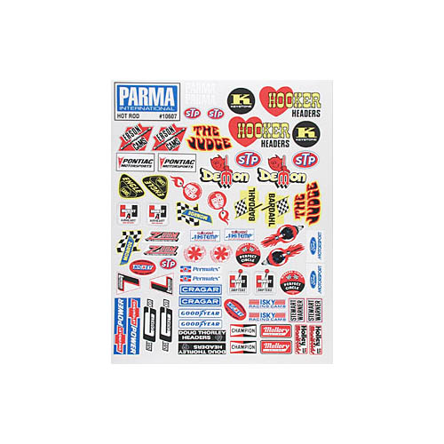 10607 Decal Sheet Meidum Hot Rod Multi-Colored