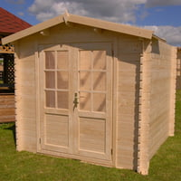 SolidBuild Optima 8 ft. 2 in. W x 8 ft. 2 in. D Wooden Storage Shed