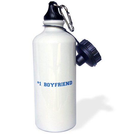 3dRose #1 Boyfriend - Number One Best Boyfriend - Romantic couple gifts - dating anniversary Valentines day, Sports Water Bottle,