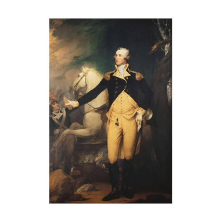 Portrait of General George Washington (1732-1799) at the Battle of Trenton Print Wall Art By Muller (George Washington Portrait)