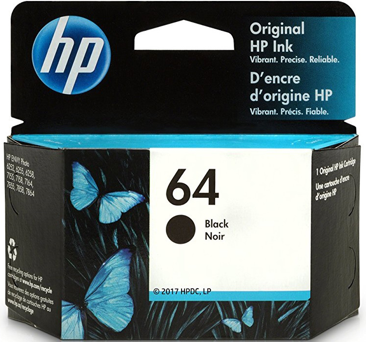 HP 64 Black Original Ink Cartridge (N9J90AN)