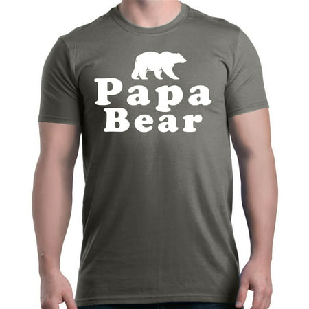 Shop4Ever Men's Papa Bear Father's Day Gift for Dad Graphic (Bong Bear Don T Care T Shirt)
