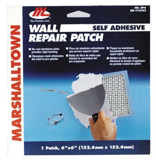 "Marshalltown  DP6 6"" X 6"" Wall Repair Patch Kit"