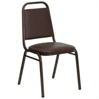 Bowery Hill Banquet Stacking Chair in Brown and Copper