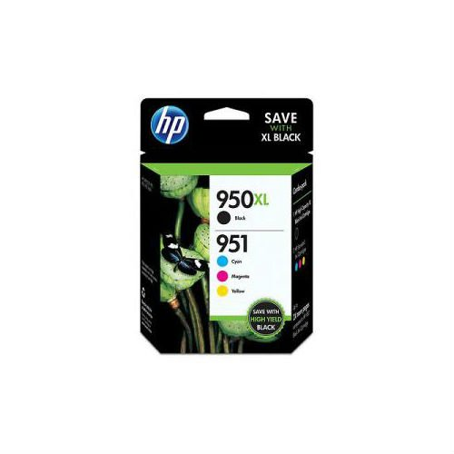 HP 950XL Black and 951 Cyan Magenta Yellow Color Ink Printer Cartridges C2P01FN by HP