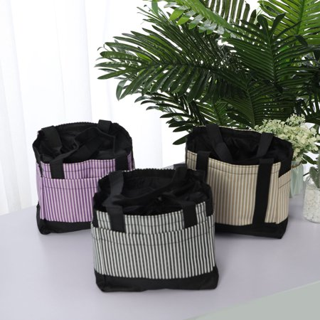 Insulated Lunch Bag Warm Cooler Picnic Fruit Food Box Tote Carry Bag Black - image 3 de 7
