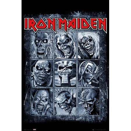 Iron Maiden - Music Poster / Print (Eddies / Collage) (Size: 24
