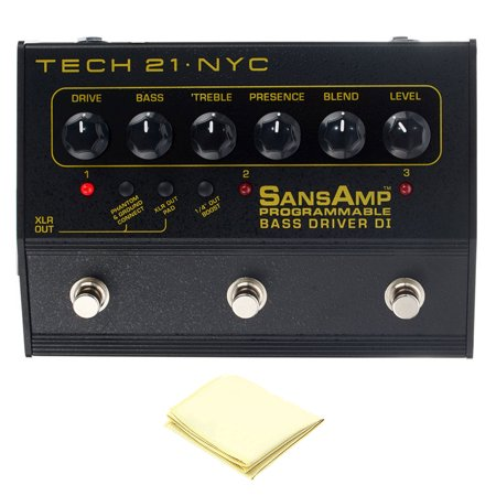 Tech 21 PBDR SansAmp Programmable Bass Driver DI Preamp with Instrument Polishing