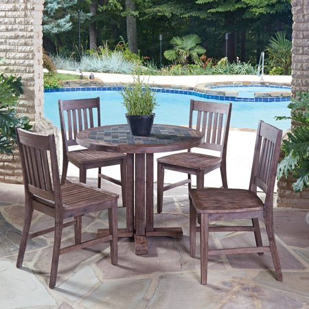 Home Styles Morocco 5pc Indoor Outdoor Dining Set With Square Dining Table An