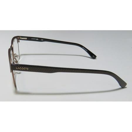 c33127393c1d New Lacoste 2218 Mens Designer Full-Rim Olive   Gunmetal   Pattern Popular  Style Fashionable Casual Frame Demo Lenses 53-18-145 Flexible Hinges ...