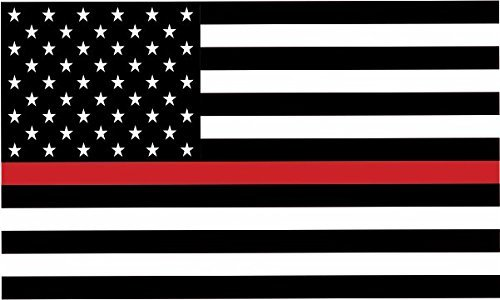 Thin Red Line Fire Wholesale Metal Novelty License Plate Wall Decor